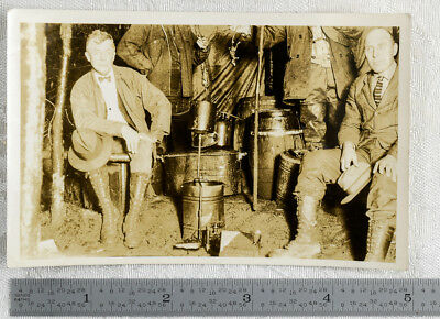Genuine Old Moonshiners Photo With Still And Dead Rats Prohibition Bootleggers