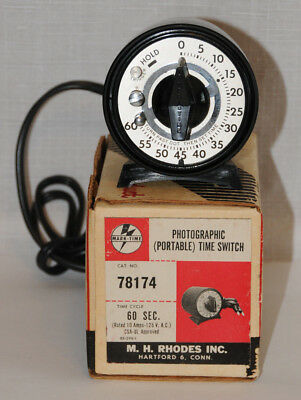 MARKTIME Photographic Timer Darkroom Time Switch 60 Seconds Make-Time 78174