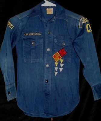 Boy Scouts Of America Boys Long Sleeve Button Up Collared Blue Shirt