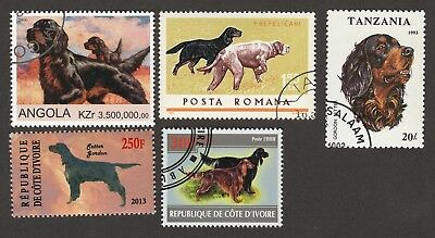 GORDON SETTER ** Int'l Dog Postage Stamp Collection **Unique Gift Idea**