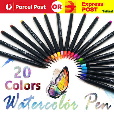 20-Colors Water Brush Pen Art Paint Brush for watercolor Watercolour Brush Set