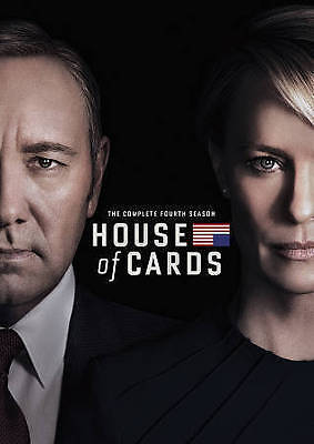 House of Cards: The Complete Fourth 4th 4 Season (DVD, 2016, 4-Disc Set) NEW