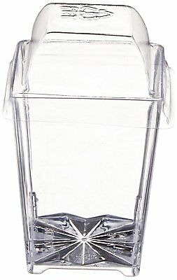 Clear Lake Enterprises Parfait Dessert Tumbler Cups with Dome Lids, 4-Ounce,