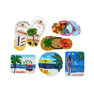 3D Resin Fridge Magnet Tourist Travel Souvenir Memorabilia - Maldives