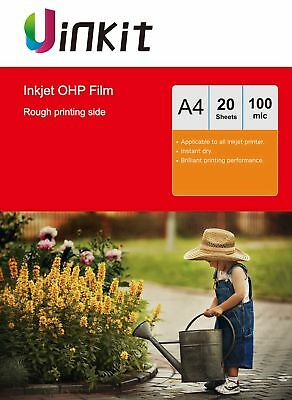 A4 OHP Film Overhead Project Clear Film With Stripe For Inkjet - 20 Sheet Uinkit