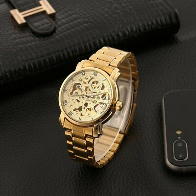 WINNER Automatic Mechanical Watches Skeleton Watch with Hollow Back for Men st