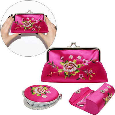 Chinese style silk embroidery Cosmetic bag jewelry bag folk traditional hand art