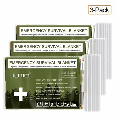 Hot Set Emergency Mylar Survival Blanket Foil Thermal First Aid Outdoor Camping