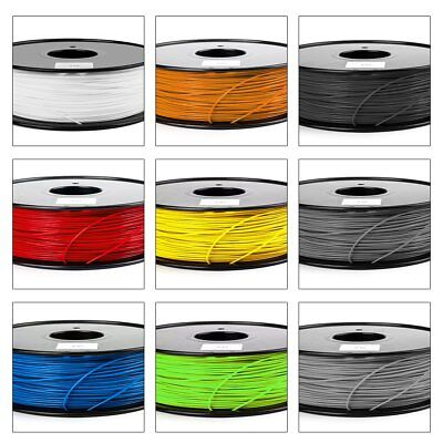 3D Printer Filament 1.75mm ABS/PLA 1KG/Roll Colours Engineer Drawing Modeling