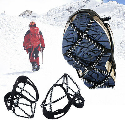 Ice Snow Anti Slip Spring Spikes Grips Grippers Crampon Overshoe For Shoes Boots