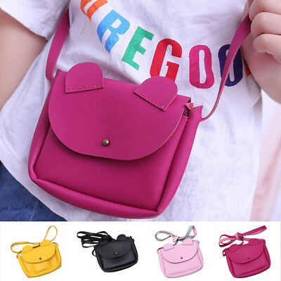 Cartoon Ears Girls Shoulder Bag Crossbody Sling PU Leather Small Wallet Handbags