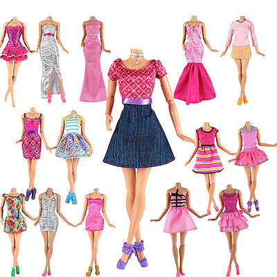 Fashion Handmade Clothes Dress Outfit For Barbie Doll Random style Toy Gift bhe