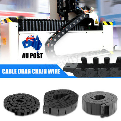 100CM CNC Open Nylon Towline Cable Drag Chain Wire Protect Carrier R18/R28/R38