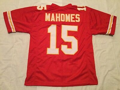 UNSIGNED CUSTOM SEWN Stitched Patrick Mahomes Red Jersey - M 7af36a428