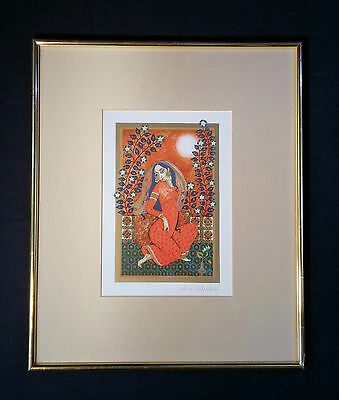 Beautiful Old Color Lithography 1001 Nights: orientalist. Anne Kristin Schaller