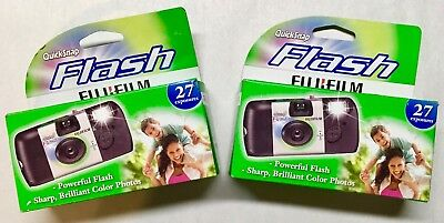 Fujifilm QuickSnap Flash 800 Speed Single Use Camera -2 PACK -EXP. 8/19 or later