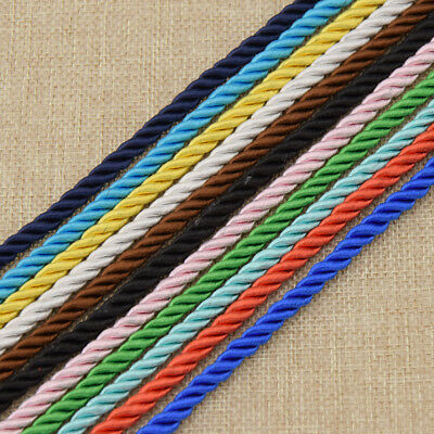 Round Braided Leather Jewelry Cord Rope DIY Necklace Bracelet Findings 3M