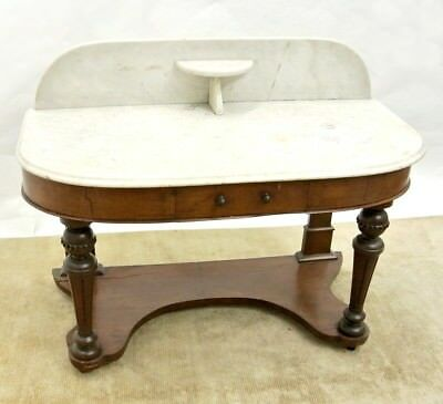 Antique American Marble Top Wash stand Commode