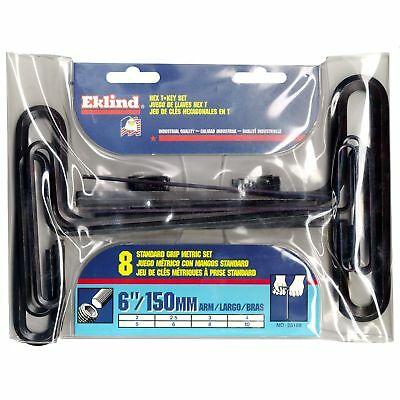 "Eklind Tool Company 35168 8 Piece 6"" Metric T-Handle Hex Key Set"
