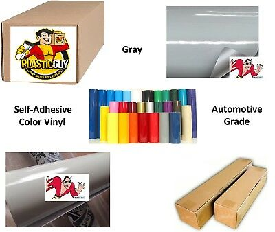"""Gray Self-Adhesive Sign Vinyl 15"""" x 150 ft or 50 yd (1 Roll)"""