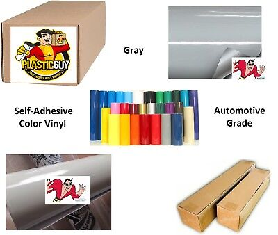 "Gray Self-Adhesive Sign Vinyl 24"" x 150 ft or 50 yd (1 Roll)"