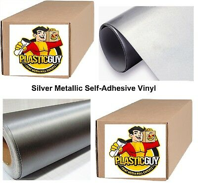 "Silver Self-Adhesive Sign Vinyl 15"" x 150 ft or 50 yd (1 Roll)"