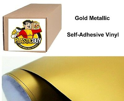 "Gold Self-Adhesive Sign Vinyl 48"" x 150 ft or 50 yd (1 Roll)"