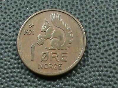 NORWAY   1 Ore   1971   SQUIRREL   $ 2.99  maximum  shipping  in  USA