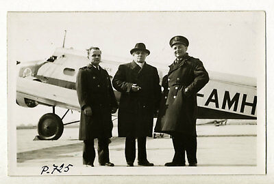 Joseph Paul-Boncour, devant un Wibault 280.T12 Air France - Photo Vintage 1938