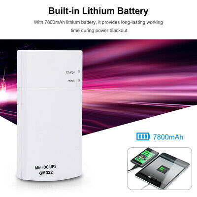 Mini 7800MAH UPS Power Protection Charger DC Power Bank Fast Charging 12V 2A
