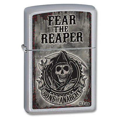 Zippo 28502 Sons of Anarchy Satin Chrome Lighter