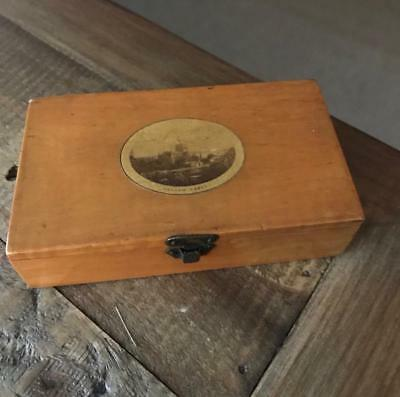 Beautiful Antique Mauchline Ware Box. Vintage Treen Box. Hexham Abbey