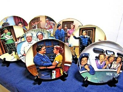 Hamilton Collection The Honeymooners 8 PLATE SET NEW IN BOXES w/ COA's L@@K !