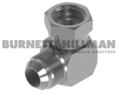 Burnett & Hillman JIC Male x BSP Swivel Female 90° Compact Elbow Adaptor