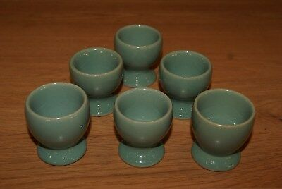Denby Pottery Manor Green Set of 6 Pedestal Style Egg Cups