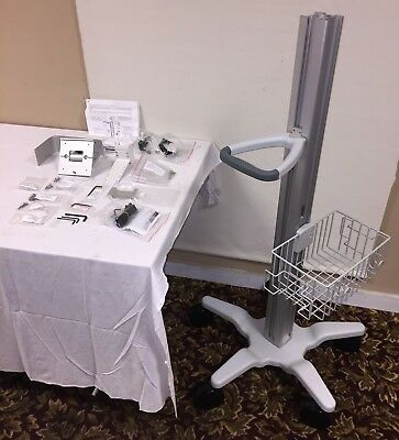GCX Polymount Dual Channel Roll Stand Kit for GE Solar 8000 Patient Monitor