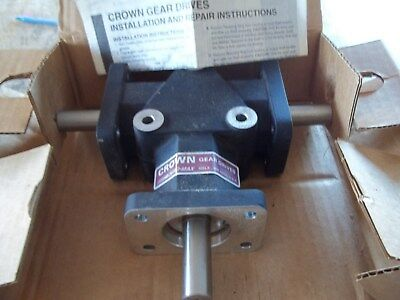 New In Box Crown C209806 Spiral Bevel Gear Drive 3-Way Right Angle All Ccw Turn