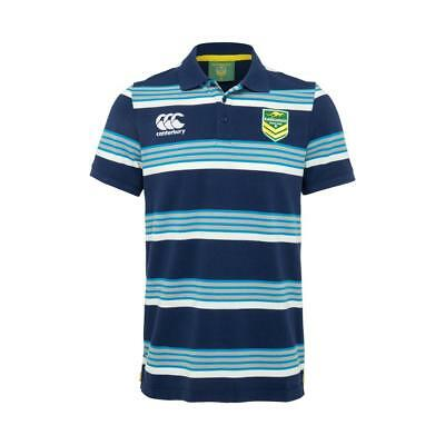 Australian Kangaroos Mens Lifestyle Rugby Polo Shirt by Canterbury