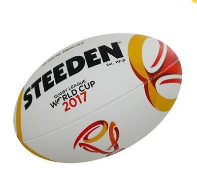 Rugby League World Cup Full Size Ball (Size 5) by Steeden