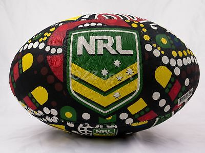 NRL Indigenous Rugby League Full Size Ball (Size 5) by Steeden