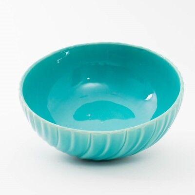 GMB Gladding McBean Franciscan California Pottery Bowl Turquoise Blue 10.5""