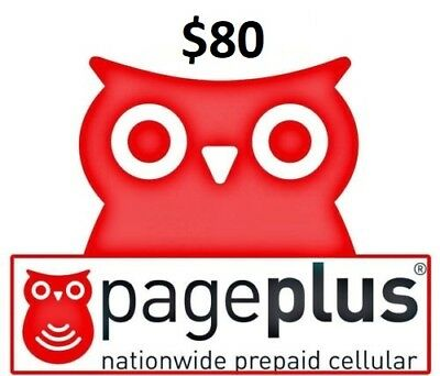 Page Plus $80 Refill 2000 minutes / 365 Days -- Loaded directly