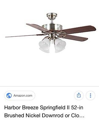Harbor breeze springfield ii 52 brushed nickel indoor ceiling fan harbor breeze springfield ii ceiling fan two available aloadofball Choice Image