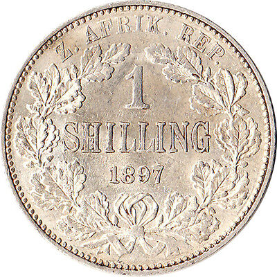 1897 South Africa 1 Shilling Silver Coin KM#5
