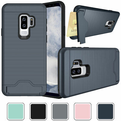 Credit Card Holder Wallet Phone Case Cover For Samsung Galaxy S7 S8 S9 / S9 Plus