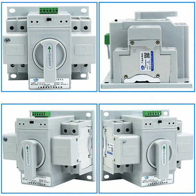 Home Dual Power Automatic Change-Over Transfer Switch 2P 63A 220V Toggle Switch