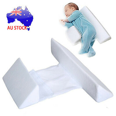 Memory Foam Baby Infant Sleep Pillow Support Wedge Adjustable White Cotton SN