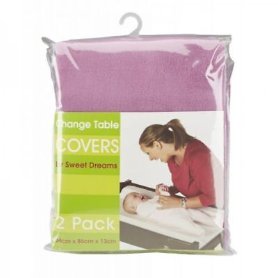 Sweet Dreams Change Table Mattress Cover 2 Pack - Plumrose