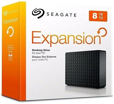 Seagate 8TB Expansion External USB 3.0 Hard Drive Sony PS4, PC, Apple, XBOX One