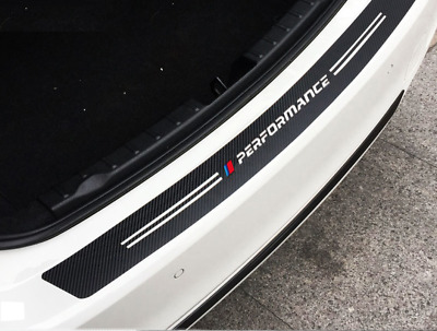 BMW Carbon Fibre M sport performance car bumper sticker Trunk Rear Protector